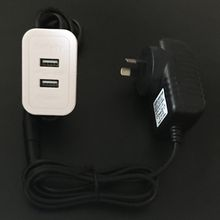 Double USB Outlet Extension Power Cable Embedded in Desk Sofa BedNon-Grounding 10W AU Srandard Power Adapter Space-Saving USB Charging Hub