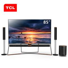 TCL 85X6 85 inch flagship 4K quantum dot Harman Kardon AI artificial intelligence LCD network flat TV (black)