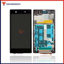 For Sony Z1 L39H C6902 C6903 LCD Display Touch Screen Digitizer Assembly with frame Free Shipping