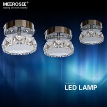Modern 3W LED Crystal Chandelier Light Fixture Lustres Round Shape LED Chandelier Aisle Corridor Lamp Price for 1 PC Only Free Shipping