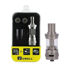 High Quality Uwell Crown Sub Ohm Tank Temperature control Dual coils Food Grade SS with Glass tube atomizer Clone DHL free