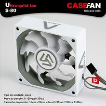 S-80 case fan 8cm with silicone skin 2000RPM 3pin cooling fan computer chassis DC fan thermal gaming fan CPU cooler 80mm
