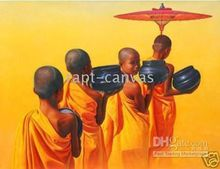 Free shipping New Handicraft canvas oil painting Tibet Buddhist YP455 guaranted