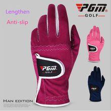 PGM Golf Gloves Women Lengthened Extended Edition Anti-slip Golf Gloves Soft Breathable Fiber cloth Left and Right Hand Gloves