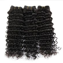 Unprocessed Brazilian Deep Wave Hair Weaves Brazilian Deep Wave Virgin Hair Natural Black Color Brazilian Virgin Hair