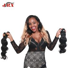 JRX Wholesale Price 100% Human Hair Ombre Human Hair Extensions Colored Hair Bundles