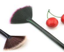 fan shape cosmetics powder makeup brushes beauty tools
