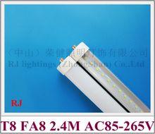 FA8S single pin LED tube T8 LED bulb tubes 2400mm 240cm 2.4M FA8 SMD2835 192 led 4800lm 40W AC85-265V cold white / warm white