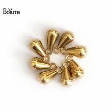 BoYuTe 100Pcs 3*6MM 3*7MM 4*8MM Water Drop Charms Metal Brass Beads for Jewelry Making