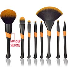 2017 AAA Newest Foundation Face Blush Powder Contour Gold Synthetic Hair Makeup Brushes Cosmetic Tools Health Beauty Accessories