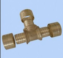 3 Way equal hose fitting for copper pipe with Female Thread