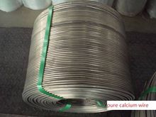 Calcium Metal Extruded Wire with Best Quality Pure Calcium Wire Production