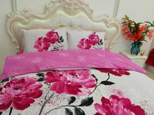 100%cotton 2018 new kind paint printing pastoralism quiliting four piece of bed cover