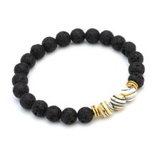 Free Shipping (8pc)New Arrival Lava Natural Stone beads Bracelets 7 Color Stone Beaded Fashion Bracelet Bangle Wholesale