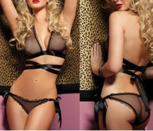 2016 new arrival Lace Sexy Women Lingerie Bra + G-String Nightwear Knickers Underwear Sleepwear Set free shipping