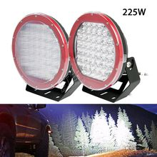 225W high power led driving spot headlight anti-vibration for excavator heavy duty construction vehicles mining trucks