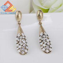 Charm Earrings limited edition top fashion alloy plant fashion water droplets pearl ear pendants earrings Bohemia free shipping