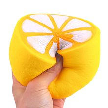 Lemon Squeeze Toys Hand Stress Balls 3inches 7.5CM Anti-Stress Mesh Kawaii Stress Reliever Decompression Novelty Fruit Squishy Squishies