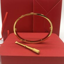 New style silver rose 18k gold 316L stainless steel screw bangle bracelet with screwdriver and original box screws never lose