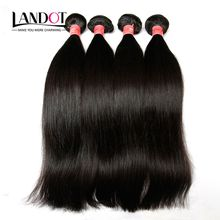 Brazilian Virgin Hair Straight 3Pcs Lot Unprocessed 7A Grade Brazillian Human Hair Weave Bundles Double Weft Nature Black Extensions Dyeable
