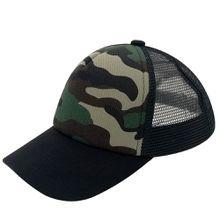 Unisex Plain Kids Baseball Cap Youth Mesh Unqiue Fashion Trucker Blank Cap Adjustable Snapback For Boys and Girls Camouflage