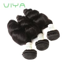 VIYA Malayasian Hair Bundles Loose Wave Unprocessed Human Hair Weave 3 Bundles Hair Extensions Natural Color WE