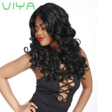VIYA Indian Hair Bundles Loose Curl Unprocessed Human Hair Weave 3 Bundles Hair Extensions Natural Color 905C