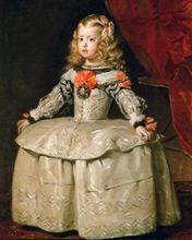 Classical figurative painting vintage portrait poster picture painting Diego Velazquez Infanta Margaraita Teresa in White Garb