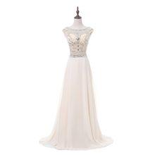 Robe de Soiree Longue Real Kaftan Dubai Champagne Cap Sleeve A-line Evening Dresses 2018 Formal Prom Gowns China Vestido Long