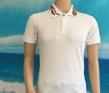shirts luxury brand clothing embroidery tiger fashion snake shirts casual short sleeve summer men hip hop tops shirts