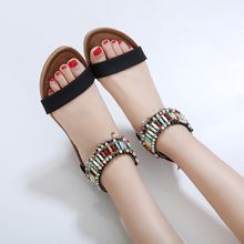 2018 new female sandals Rome national wind big slope with women's shoes