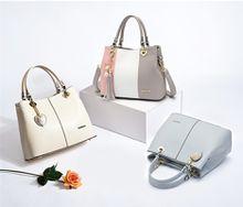 Spring 2018 new women's bags commuter bucket bag fashion joker bag slanting straddle bag large capacity handbag