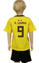 Youth Belgium yellow Soccer Kids Jersey 2019 away De Bruyne Hazard Lukaku Football Shirt Kits