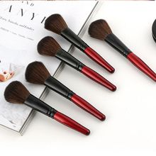 wine red color powder blusher makeup brushes cosmetic beauty tools