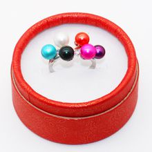 2019 s925 pure silver freshwater mixed with 6-color pearl ring