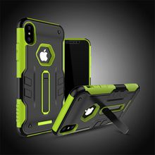 Hybrid Dual Layer Armor Protective Case Cover for iphone X 8 7 6 6S Plus / Samsung Galaxy S8 Plus J5 J7 Prime ON5 ON7 2016 with Kickstand