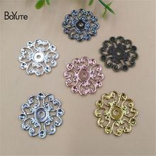 BoYuTe 100Pcs 7 Colors 20MM Metal Brass Filigree Flower Charms Diy Jewelry Accessories Scrapbooking Stamping