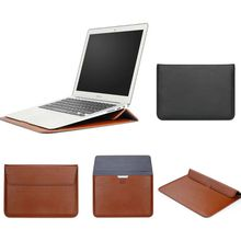 PU Leather Envelope Sleeve Bag Laptop Cover Stand Case Protective Pouch For Macbook AIR RETINA 11 12 13 15 inch Multifunction Sleeve