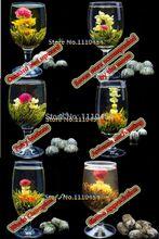 C-TS073 Handmade Blooming Flower Tea 16 Kinds Ball Blooming Flower Herbal tea Artificial Flower Tea Products 130g