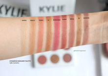 Kylie Bronze Burgundy 9 spot color pearlescent color orange red wine red earth matte Eyeshadow