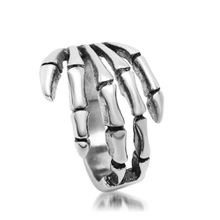 Men's Vintage Skeleton Hand Shape Stainless steel Rings Punk 316L Titanium Rings Jewelry Accessories