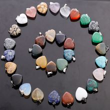 Natural stone heart pendant size about 0.8in * 0.8in * 0.2in / pcs
