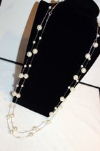 hot sale Fashion jewelry classic elegant gold silver 80cm woman lady sweater pearl long pendant beaded necklace
