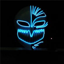 EL wire Mask Flashing Coplay LED MASK Costume Anonymous Mask for Glowing dance Carnival Party Masks grim Reaper wholesale LX006