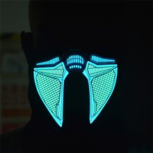 EL Wire Mask Light Up Neon Skull LED Mask For Halloween Party And Concert Scary Party Theme Coplay Masks sound controlled XLL16