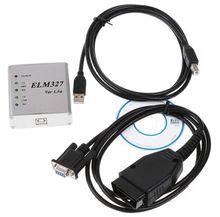 ELM327 USB metal matel Aluminum shell OBD2 ELM327 USB CAN-BUS Scanner OBD2 code V1.4B v1.5a 25k80 PIC18F25K80 CP2102