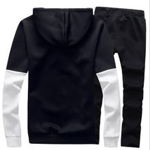 Spring Autumn Casual Hoodies Mens Tracksuit Set Youths Outdoor Sports Running Long sleeve Sweatshirts and Pants sets Slim Leisure Suit