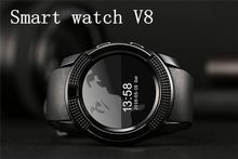 V8 Smart watch with GSM bluetooth wirst phone mibile watches men luxury time piece Camera and Multiple language support fitbit watch