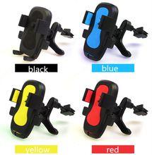 car holder air vent bracket clip for mobile phone GPS Multiple colors pinch arm outlet rack EVA sponge ABS