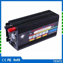 1500W Solar Power Inverter DC 12V AC 230V Modified Conventer with Car Charger & 1Pair Alligator Clip For Television DVD Player for home use